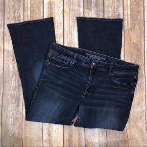 American Eagle Outfitters Kick Boot Jeans 18 short